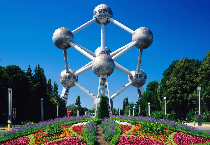 Atomium, Stadtteil Laeken, Br?ssel, Brabant, Belgien
